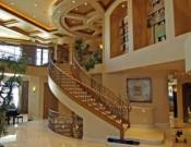 Extraordinary family room staircase