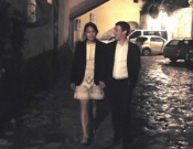 Romantic walk on the streets of Italy