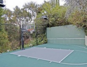 Compact basketball court