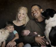 Tiger Woods with family