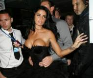 Katie Price at one of her friends birthday party