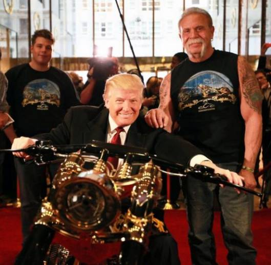 Paul Sr designs custom gold chopper for Donald Trump
