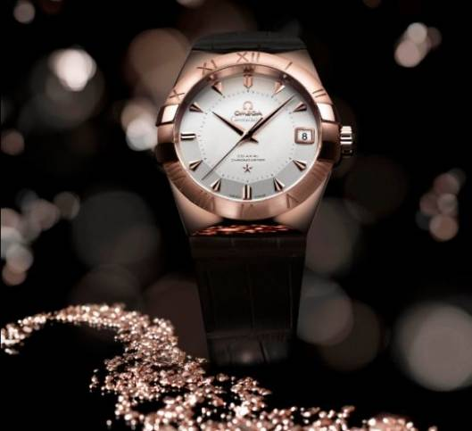 OMEGA Constellation Sedna limited-edition watches are crafted from a new 18K rose gold alloy 'Sedna'