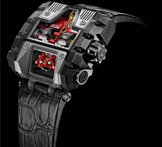 The futuristic Rebellion T-1000 Gotham watch is produced in a limited edition of 25 pieces