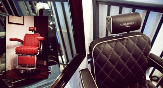 The Bentley Pankhurst luxury grooming chairs have the joint expertise of 2 best know British luxury brands