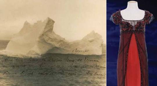 Original Iceberg Titanic Photograph and Kate Winslet's Titanic Dress up for auction