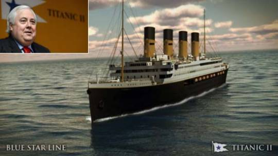 Titanic II: Australian Billionaire Clive Palmer announces plans to build Titanic replica set to sail in 2016