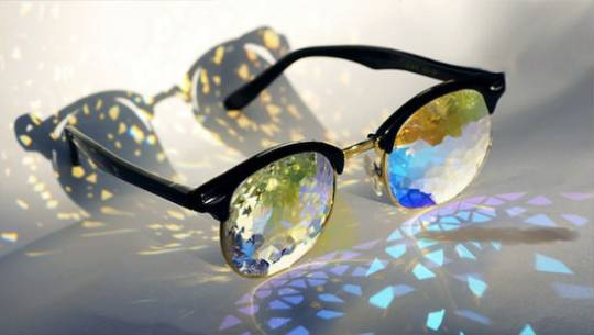 Holes Kaleidoscope glasses by Pam Tietze is more of eyewear art