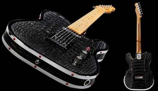 Rock Royalty's $85,000 custom alligator guitar