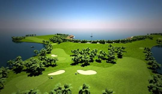 worlds first floating golf course