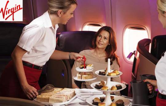 Virgin Atlantic First Class Meal service