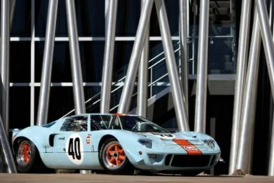 8 Ford GT40 Gulf/Mirage Lightweight racing car, chassis P/1074