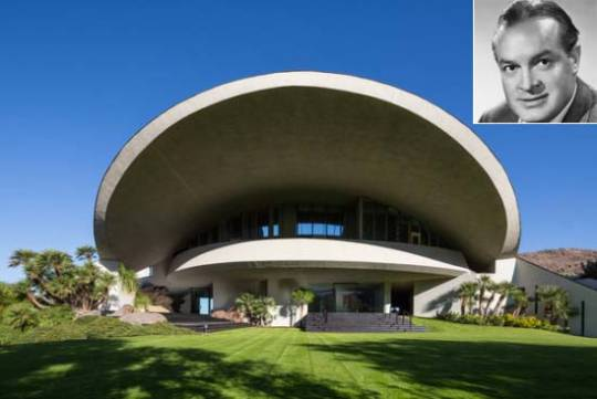 Comedian Bob Hope's 'Mushroom' Estate in Palm Springs designed by John Lautner is Up for Sale at $50M