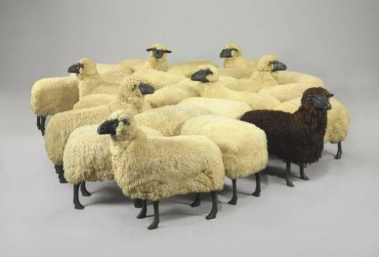 French artist Francois-Xavier Lalanne's Flock of sheep sculptures are estimated to fetch $6 million