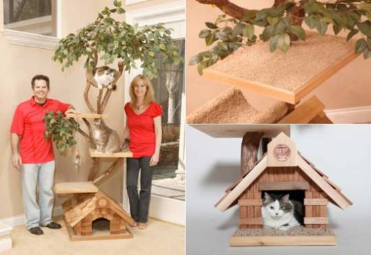 Hand-crafted luxury Tree Houses for pets