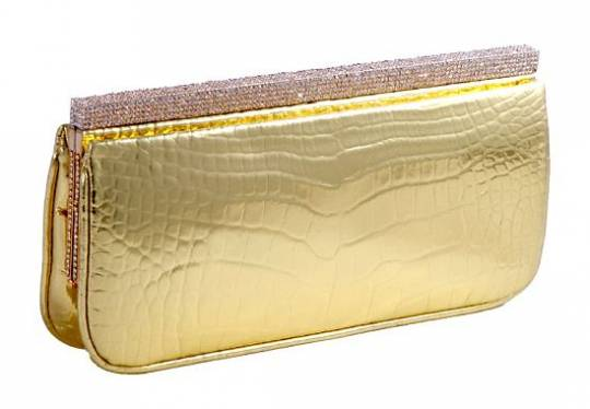 Gold plated Cleopatra clutch