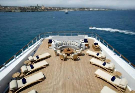 Anastasia's spacious deck