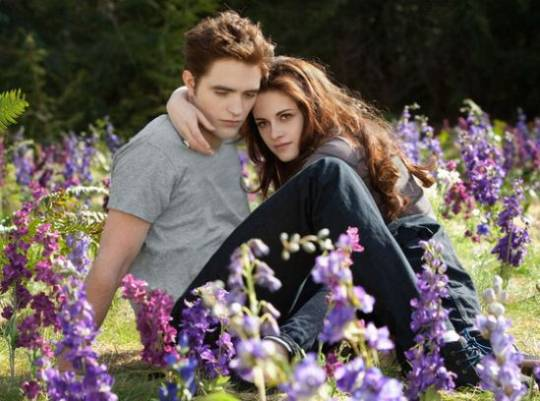 Robert Pattinson and Kristen Stewart as Vampires in Love