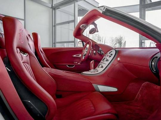 Bugatti Veyron Grand Sport 2012 Wei Long Year of the Dragon edition interior