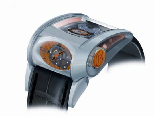 Parmigiani Bugatti Vitesse timepiece is inspired by the new convertible Bugatti Veyron Grand Sport Vitesse