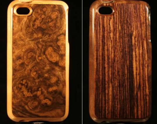 world's first real wood cases for iPhone 5 which are finished in a revolutionary high-gloss scratch resistant finish.