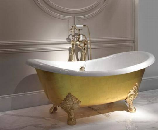 Devon & Devon 24 carat gold leaf MIDA Bathtub