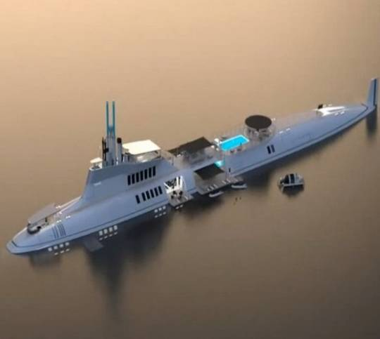 luxurious submarine - super yacht for the richest