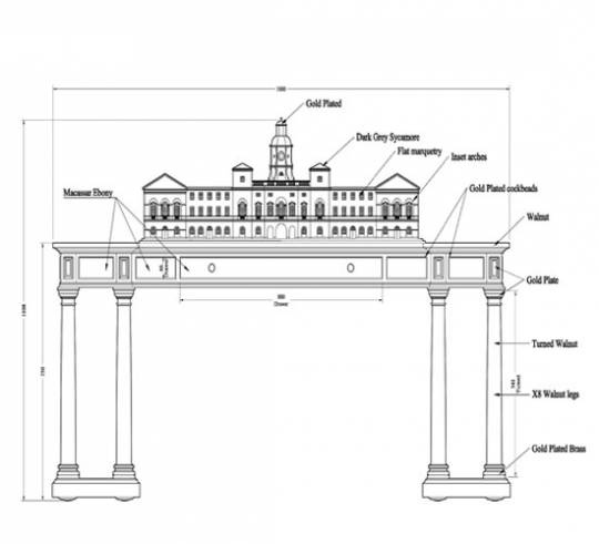 The design layout of the LINLEY desk