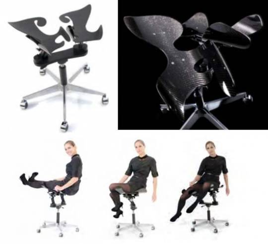 Ergonomic Intelligent Chair By Inno Motion boasts carbon fiber shells for $8,500