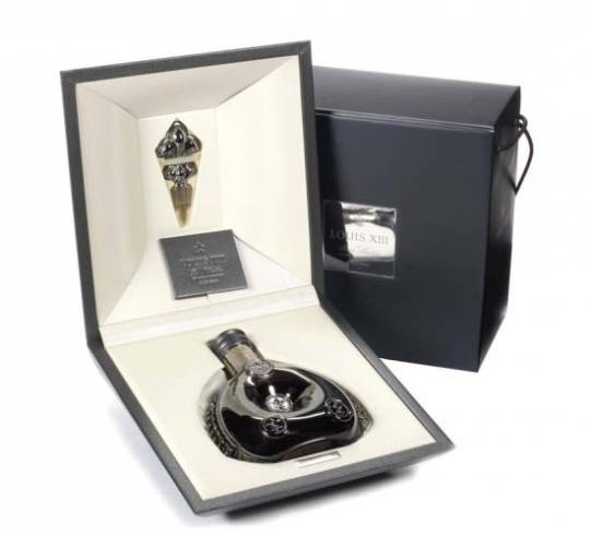 Rare bottle of Rémy Martin Louis XIII Black Pearl Cognac to auction at Bonhams Fine wines auction