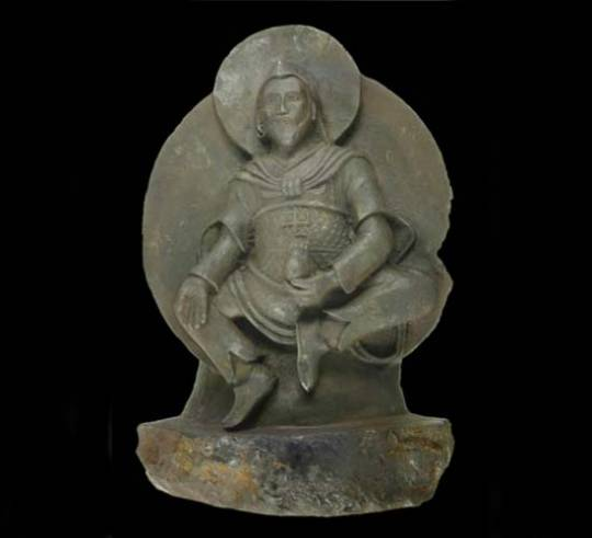 Ancient Buddha sculpture carved from meteorite that crashed about 15000 years ago