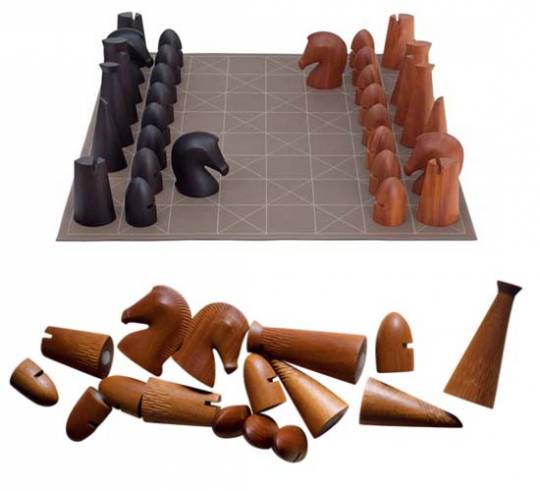 Giant Samarcande chess set by Hermès