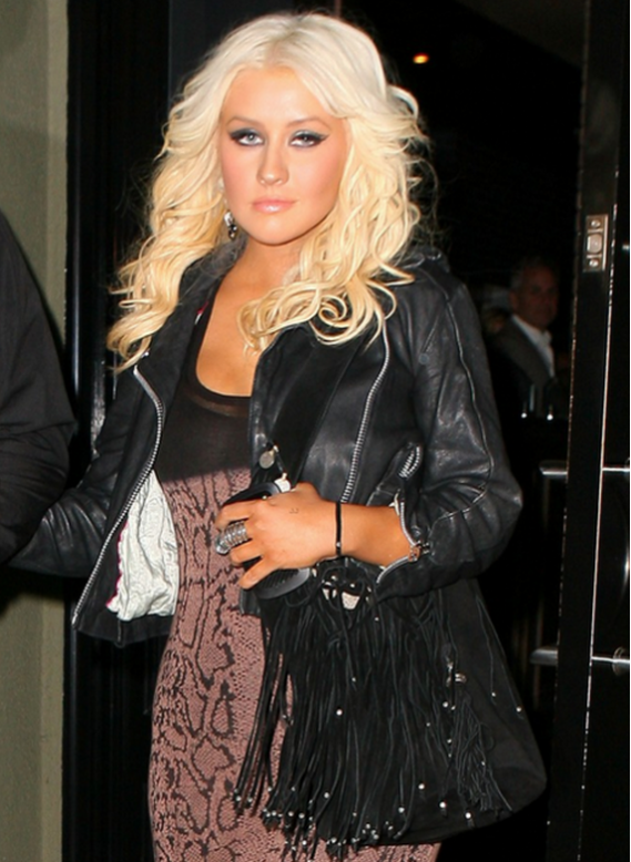 Christina has been spotted carrying her BlackBerry Bold 9900 Touch in most of her outings.