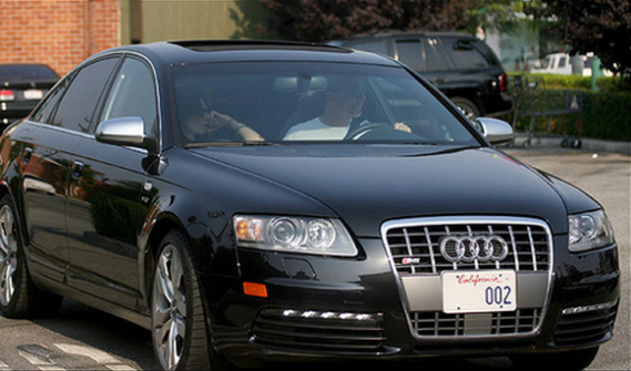 A limited edition black colored Audi S6 is one of the primary vehicles in his luxurious garage.