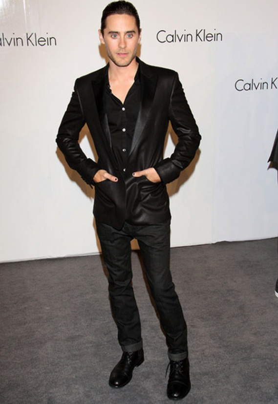 Jared Leto in Calvin Klein.