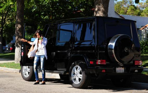 For an avid SUV driver like Ashley Tisdale, the Mercedes Benz G550 Wagen is the perfect tough, all-terrain vehicle.