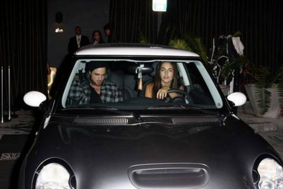 The actress loves to drive around in her Mini Cooper, the sides of which sport a metallic black paint along with a silver colored sunroof.