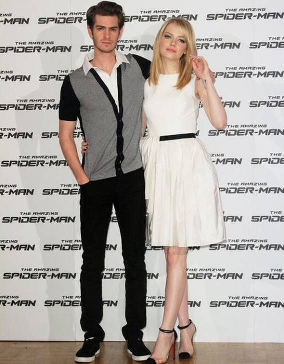 The actor donned the tapered fitted jeans during a photo call for his movie, 'The Amazing Spider-Man' held in Rome on June 2012.