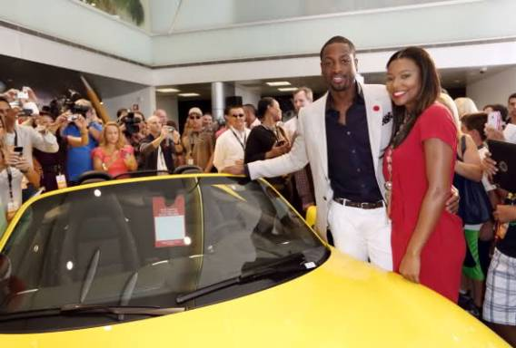 Dwyane Wade loves to zoom around in his colored Porsche 991