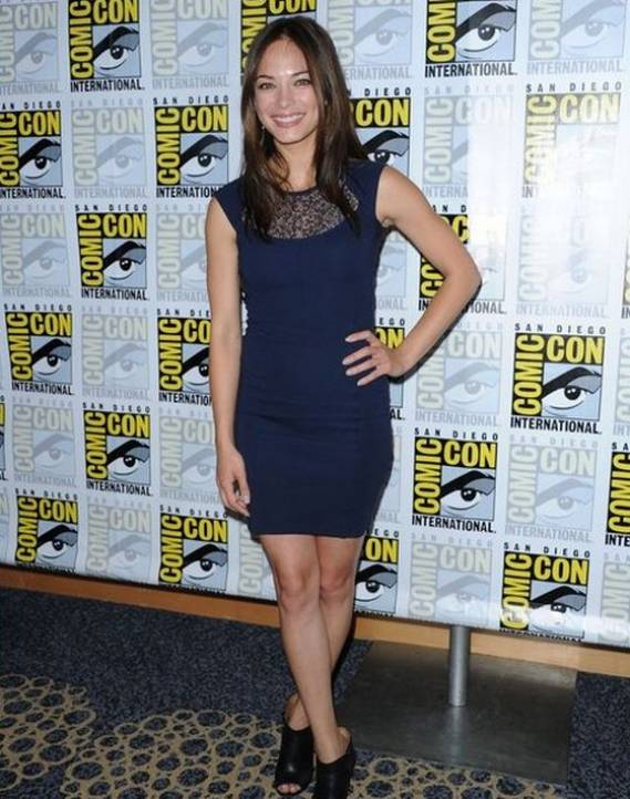 Kristin Kreuk wears French Connection Lori Lace Jersey Dress