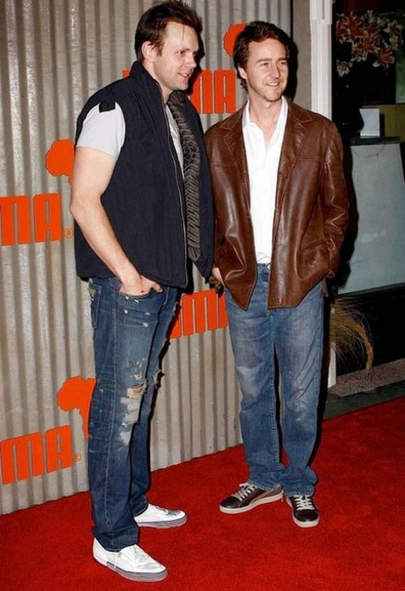 Edward Norton wears Puma Clyde Jet Set