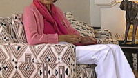 Liliane Bettencourt in her home