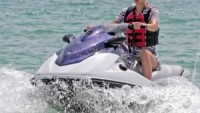 Having fun on Jetski