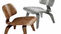 Limited edition Ethnos Eames Chairs in bronze and aluminum