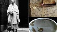 Mahatma Gandhi's blood-stained soil and glasses go on auction in UK