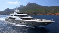 5000FLY La Pellegrina, the largest French superyacht fully built in Kevlar Carbon debuts at Cannes Boat Show