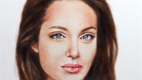 Angelina Jolie's post surgery oil painting to go under the hammer for charity