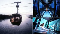 Swarovski-studded, high-tech cable car cabins for Singapore
