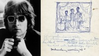 John Lennon's 'Lucy in the Sky with Diamonds' lyrics up for grabs