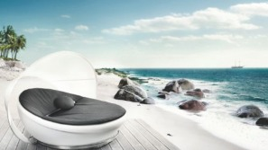 Solpuri Lagoon daybed promises relaxing moments in the open air